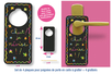 Plaques poignée de porte en carte à gratter  + accessoires - 4 pcs - Carte à gratter - 10doigts.fr