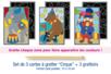 """Cartes à gratter """"Cirque"""" + grattoirs - 3 pièces - Carte à gratter - 10doigts.fr"""