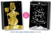 Set de 4 cartes à gratter face noire fond métallisé + 4 grattoirs - Cartes à gratter, cartes à sabler – 10doigts.fr