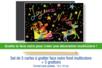Cartes à gratter face noire fond multicolore + grattoirs  - 5 pcs - Cartes à gratter - 10doigts.fr