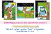 """Cartes à gratter """"Forêt"""" + grattoirs - 3 cartes - Cartes à gratter - 10doigts.fr"""