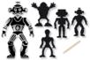 Robots en carte à gratter - 12 pièces - Cartes à gratter – 10doigts.fr