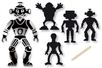 Cartes à gratter thème Robot + accessoires - 12 formes - Carte à gratter – 10doigts.fr