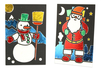 Cartes de Noël à métalliser - Set de 3 - Cartes de vœux – 10doigts.fr