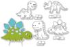 Dinosaures carte à sabler - Set de 4 - Sables colorés – 10doigts.fr