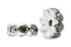 Intercalaires argentés avec strass incrustés - Lot de 10 - Perles intercalaires & charm's – 10doigts.fr