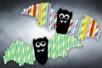 chauve souris papier bricolage halloween pailles - Tête à Modeler