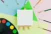Mini chevalet avec toile - Toiles classiques - 10doigts.fr