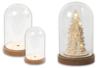 Cloche transparente avec socle en bois - Noël – 10doigts.fr