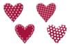 Coeurs fantaisie en bois décoré - Set de 8 - Motifs peint - 10doigts.fr