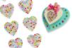 Strass adhésifs en forme de cœur - 24 strass - Strass autocollants – 10doigts.fr