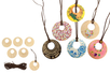 Colliers pendentif en bois - Lot de 6 - Kits bijoux – 10doigts.fr