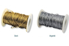 Cordon métallisé doré ou argenté - Fils métallisés et câbles - 10doigts.fr