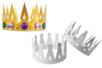 Couronnes en carte forte blanche - Set de 12 - Mardi gras, carnaval – 10doigts.fr