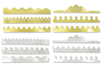 Couronnes métallisées or et argent - Set de 12 - Mardi gras, carnaval – 10doigts.fr