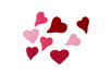 Cœurs en feutrine assortis - 160 pièces - Feutres Marqueurs Textile – 10doigts.fr