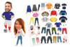 Crazy Look Stickers - 48 stickers - Gommettes Histoires et décors - 10doigts.fr