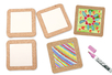 Dessous de plat en liège et porcelaine - Supports en Céramique et Porcelaine – 10doigts.fr