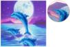 Broderie diamant Dauphin - Carte 18 x 18 cm - Broderie Diamant – 10doigts.fr