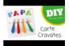 Carte cravates fête des pères - Fête des Pères – 10doigts.fr