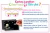 Cartes à gratter face noire fond argenté holographique + grattoirs - 5 pcs - Cartes à gratter – 10doigts.fr