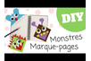 Les petits monstres marque-page - Activités enfantines – 10doigts.fr