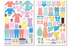 6 Planches de stickers filles - Gommettes fantaisie – 10doigts.fr