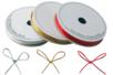 Cordon polyester métallisé : or, argent et rouge - Fils métallisés et câbles - 10doigts.fr