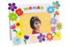 Fleurs brillantes en carte forte - 1250 pièces - Fleurs et feuilles – 10doigts.fr