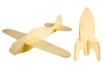 Fusée et avion en bois - Set de 2 - Divers – 10doigts.fr