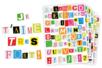 Gommettes Lettres de Magazine - Bullet Journal, Planner - 10doigts.fr