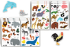 Maxi gommettes animaux - 4 planches - Gommettes Animaux – 10doigts.fr
