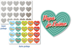 "Stickers cœurs ""Message d'amour"" à gratter - 40 pcs - Cartes à gratter – 10doigts.fr"