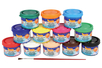 Gouaches en pot - Set de 12 - Gouaches d'écoliers – 10doigts.fr