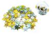Grandes paillettes étoiles holographiques or et argent - Set de 140 paillettes - Paillettes à saupoudrer – 10doigts.fr