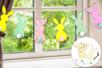 Kit guirlande 6 lapins en bois - Kits activités Pâques – 10doigts.fr
