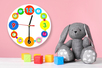 Horloge ronde à décorer avec gommettes et strass - Activités enfantines – 10doigts.fr