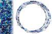 Kit bracelets farandole de perles fantaisie, en camaïeu de bleus - Bijoux – 10doigts.fr
