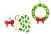 Kit couronne bougie de Noël en carte forte - Couronnes – 10doigts.fr