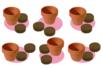"Kit ""horticulteur"" - 6 pots - Supports en Céramique et Porcelaine – 10doigts.fr"