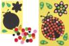 Carte mosaïques Coccinelle - Mosaïques adhésives – 10doigts.fr