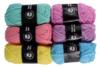 Pelotes de laine polyester, Pastel - Set de 6 - Laine – 10doigts.fr