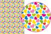 Magic Paper auto-adhésif Coeurs multicolores - Magic Paper – 10doigts.fr