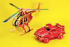 Hélicoptère 3D en bois naturel à monter - Divers – 10doigts.fr