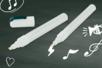 Feutres marqueurs craies blancs - Lot de 2 pièces - Craies, tableaux, ardoises – 10doigts.fr