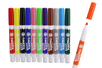 Feutres textiles grosses pointes - 12 couleurs - Feutres Marqueurs Textiles - 10doigts.fr