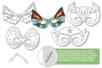 Masques à colorier Super Héros - Set de 4 - Mardi gras, carnaval – 10doigts.fr