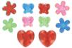 Méga strass fleurs, papillons et coeurs - 18 strass - Strass - 10doigts.fr