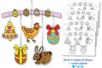 Mobiles de Pâques à colorier - Lot de 4 - Support pré-dessiné – 10doigts.fr