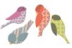 Moineaux en bois décoré - Motifs peint - 10doigts.fr